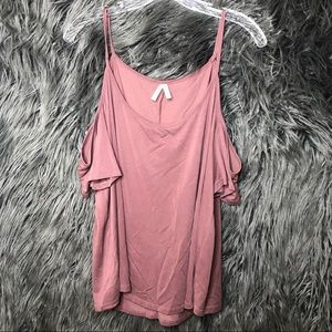 Mauve pink shoulderless mudd blouse xl
